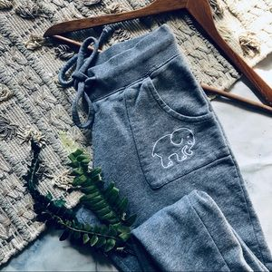 Ivory Ella Gray Logo Jogger Sweatpants (S)